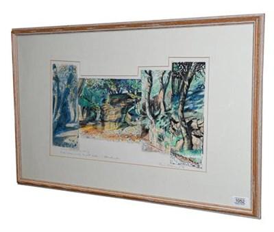Lot 1052 - Piers Browne (b.1942) ''Brook! Whose society the poet seeks...W Wordsworth'' Signed, inscribed...