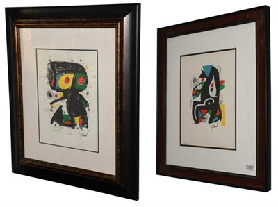 Lot 1055 - After Joan Miró (1893-1983) Spanish ''La Melodie Acide'' Numbered 803/1500, lithograph,...