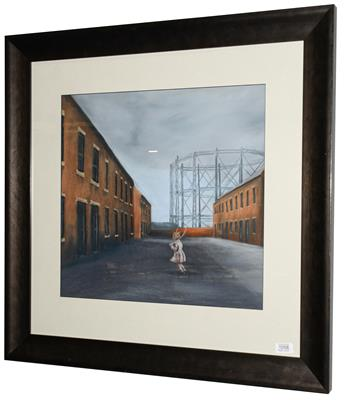 Lot 1058 - Michelle Milburn (Contemporary) A child skipping Signed, pastel, 48cm by 50.5cm   Artist's...