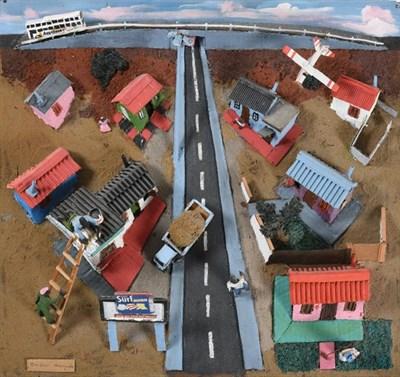 Lot 1066 - Jackson Nkumanda (b.1948) South African Township Mixed media 3D model on board, 47cm by 64cm...