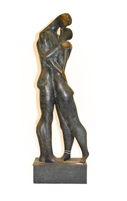 Lot 1085 - Contemporary School Standing lovers Patinated metal, 64cm high  Artist's Resale Rights/Droit de...