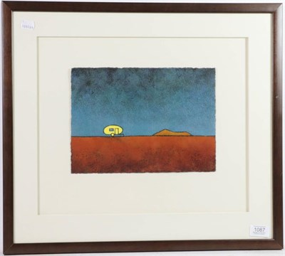 Lot 1087 - Brian Pike (Contemporary) ''Home on the Range'' Mixed media on paper, 20cm by 28cm  Provenance:...