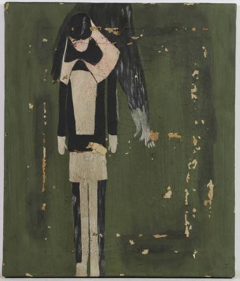 Lot 1092 - After Laurence Stephen Lowry RBA, RA (1887-1976)  Study of a standing girl Oil on canvas,...