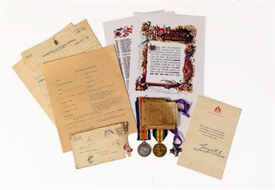 Lot 1 - A First World War Casualty Group of Medals, awarded to 472024 C.S. W.(Walter) LATHAM...