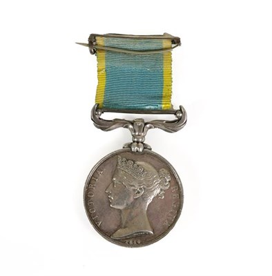 Lot 2 - A Crimea Medal, 1854, un-named as issued, with buckled ribbon brooch