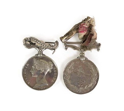 Lot 3 - A Crimea Medal, 1854, with clasp SEBASTAPOL, awarded to H.F.CURWEN 56TH REGT., a Turkish Crimea...