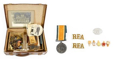 Lot 5 - A British War Medal, awarded to L-897 SJT.C.E.KEAY. R.A., together with related items including...