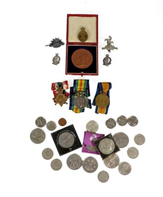 Lot 6 - A First World War Trio, comprising 1914-15 Star, British War Medal and Victory Medal, awarded...