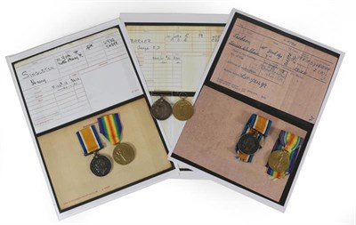 Lot 9 - Three First World War Pairs to the West Yorkshire Regiment, each comprising British War Medal...