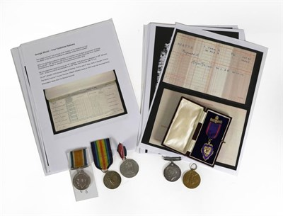 Lot 11 - A First World War Pair, awarded to 35595 PTE.R.(Reginald) H.(Hubert) WATTS, YORK.R.,comprising...