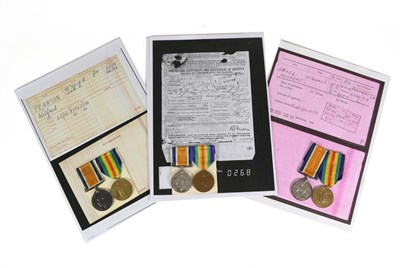 Lot 12 - Three First World War Pairs to the West Yorkshire Regiment, each comprising British War Medal...
