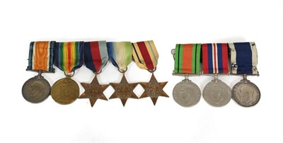 Lot 15 - A First/Second World War Long Service Group of Eight Naval Medals, awarded to J.51800 I.CARR....