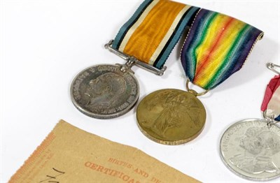 Lot 19 - A First World War Pair, comprising British War Medal and Victory Medal, awarded to 2255 PTE....