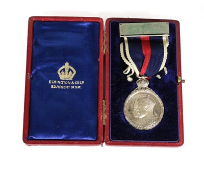 Lot 19A - A Coronation Medal, 1902, silver, in Elkington & Co. Ld. red leather case of issue.