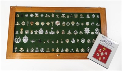 Lot 22 - A Collection of Eighty Three British Regimental Cap, Glengarry and Collar Badges, mainly...