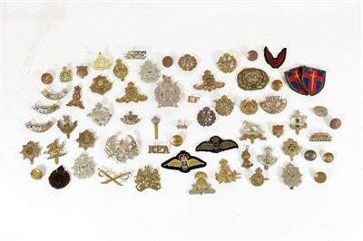 Lot 23 - A Collection of Approximately Forty Five First and Second World War Badges, including cap,...