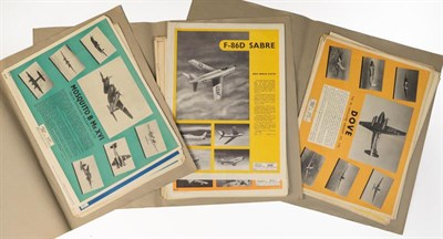 Lot 46 - A Collection of Forty Two Cold War Aircraft Recognition Posters, circa 1947 to 1956, marked as...