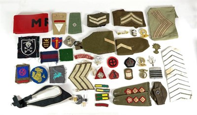 Lot 52 - A Small Quantity of British Second World War and Post War, Cloth Insignia, including rank...