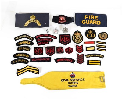 Lot 54 - A Quantity of Mainly Second World War Civil Defence Insignia, including embroidered and printed...