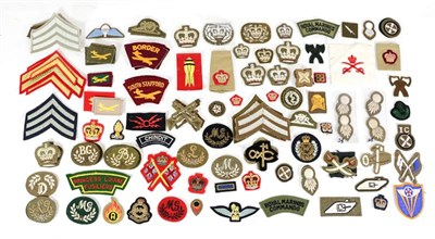 Lot 57 - A Quantity of Post Second World War Cloth Insignia, mainly British and including rank stripes...