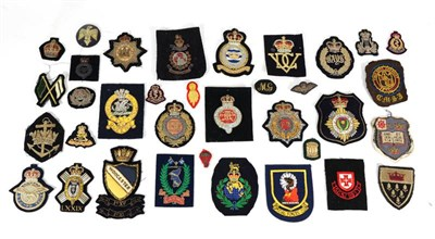 Lot 59 - A Collection of Sixteen Various Elizabeth II Bullion Thread Embroidered Blazer Badges,...