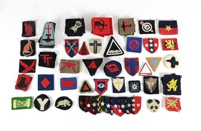 Lot 62 - A Collection of Approximately One Hundred and Ninety Second World War Formation Patches, of...