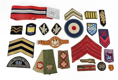 Lot 65 - A Large Quantity of Miscellaneous Insignia, including slip-on shoulder rank straps, chevrons,...