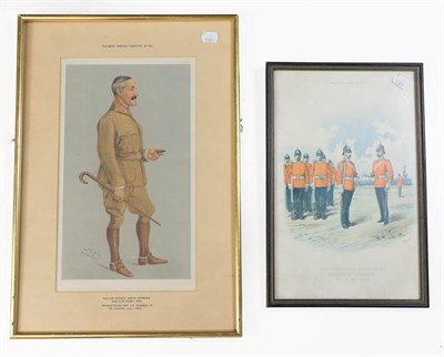 Lot 66 - A Small Quantity of Militaria, including a Spy coloured lithograph of General Sir Horace...