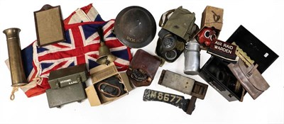 Lot 67 - A Quantity of Mainly Second World War British Militaria, including a child's Mickey Mouse gas...