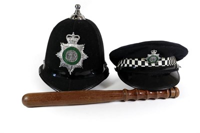 Lot 73 - An Elizabeth II Ball-Top Custodian Police Helmet, with anodised and enamel helmet plate to...