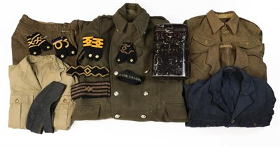 Lot 77 - A Small Quantity of Post Second World War British Uniforms, comprising a battle dress blouse to the