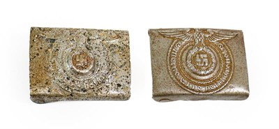 Lot 86 - A German Third Reich SS EM's Steel Buckle, with brazed catch, with prong bar and two prongs, no...
