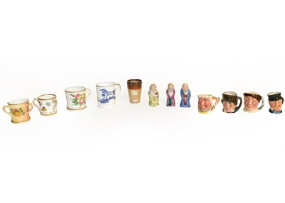Lot 18 - A collection of porcelain miniatures including Royal Worcester, Coalport, Doulton Lambeth and Royal