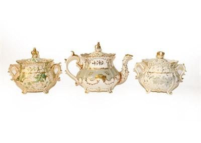 Lot 39 - A quantity of 19th century and later ceramics including Wedgwood black basalt jug, Parian...