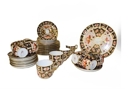 Lot 49 - A quantity of Royal Crown Derby Old Imari tea and coffee wares, including a three part tea service