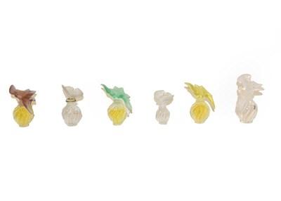 Lot 81 - Three Nina Ricci 'L'aire Du Temps' dummy factice perfume bottles, designed by Lalique, each...