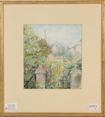 Lot 1023 - W R Swaine, Whitby 1921, watercolour, 28cm by 41.5cm, together with an A Thomas watercolour of...