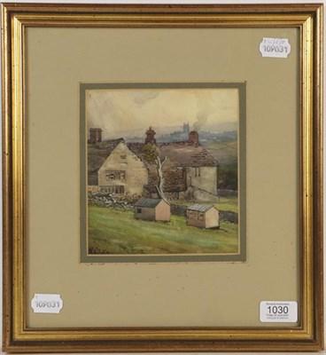 Lot 1030 - Frederick Cecil Jones (1891-1956) Yorkshire view, watercolour, 16.5cm by 15cm  Provenance: Vendor's
