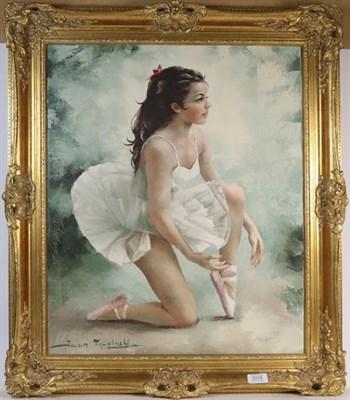 Lot 1034 - Igor Talwinsky (Polish 1907-1983) Ballerina, signed, oil on canvas