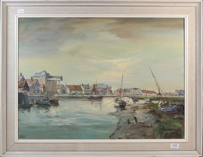 Lot 1038 - Jack Cox (Contemporary) Harbour view, signed oil on canvas, 54.5cm by 75cm