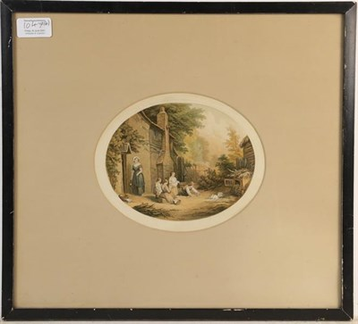 Lot 1047 - Abraham Le Blond (1819-1894) Six oval prints, titled and with blind stamps (6)