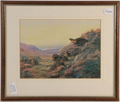 Lot 1049 - After Archibald Thorburn signed print of a fox stalking a deer, together with a further signed...