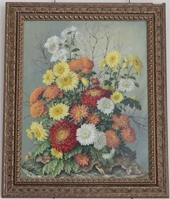 Lot 1052 - Thomas G Hill (Contemporary) Still life, signed oil on canvas, together with a further work by...