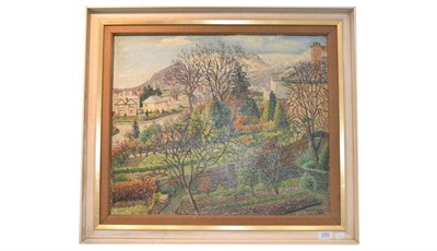 Lot 1053 - Ernest Forbes RBA (1879-1962) Village view, signed and dated oil on board 1950, 50cm by 60cm