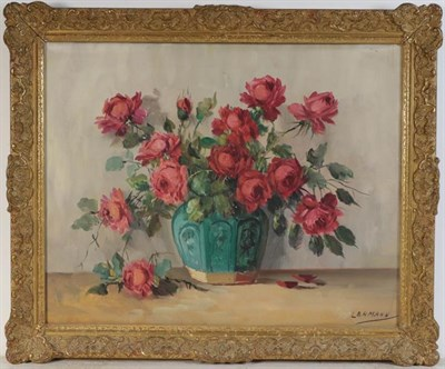 Lot 1055 - E Bromhall (Contemporary) Still life, signed oil on canvas, 59cm by 49cm, together with a...
