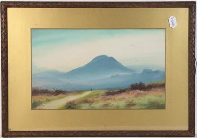 Lot 1056 - J Douglas (19th century) A highland landscape, signed watercolour, 27.5cm by 53.5cm, together...
