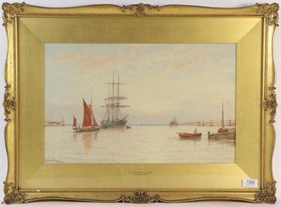 Lot 1066 - George Stanfield Walters RI (1838-1924) Southampton Water, signed watercolour, 31cm by 49cm