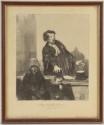 Lot 1071 - After Honor Daumier (1808-1897) A set of trial prints, various sizes (6)