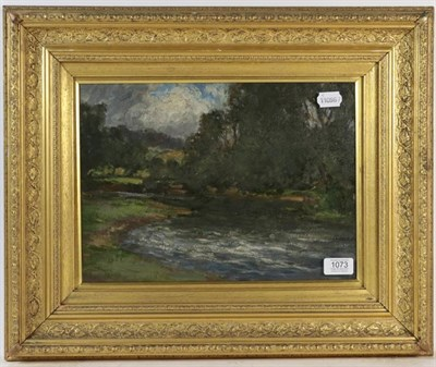 Lot 1073 - British school, Impressionist style landscape, oil on board, 26cm by 37cm