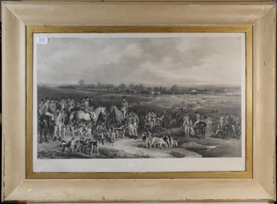 Lot 1078 - After Francis Grant, the Meeting of the Royal Hounds on Ascot Heath, print, 49cm by 76cm